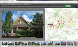 a link to open an interactive heritage homes map application