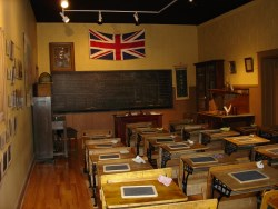 Interior of Bogarttown schoolroom