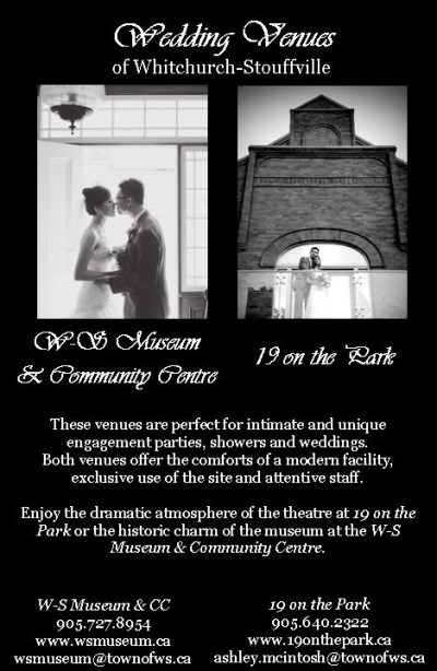 advertisement of museum and theatre for weddings