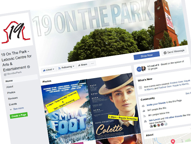 Nineteen on the Park - Facebook