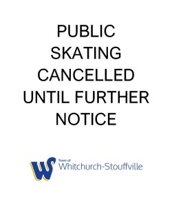 Public skating cancelled