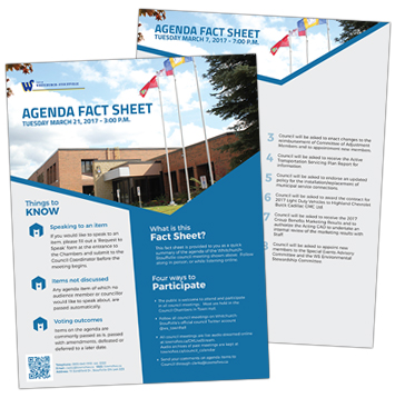 Council Agenda Fact Sheets